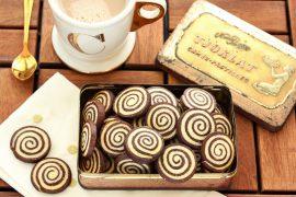 עוגיות ספירלה בטעם קקאו-שקדים