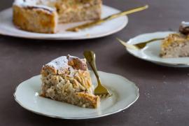עוגת ריקוטה, לימון ושקדים