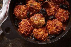 קציצות אורז ועוף ברוטב עגבניות פרסי