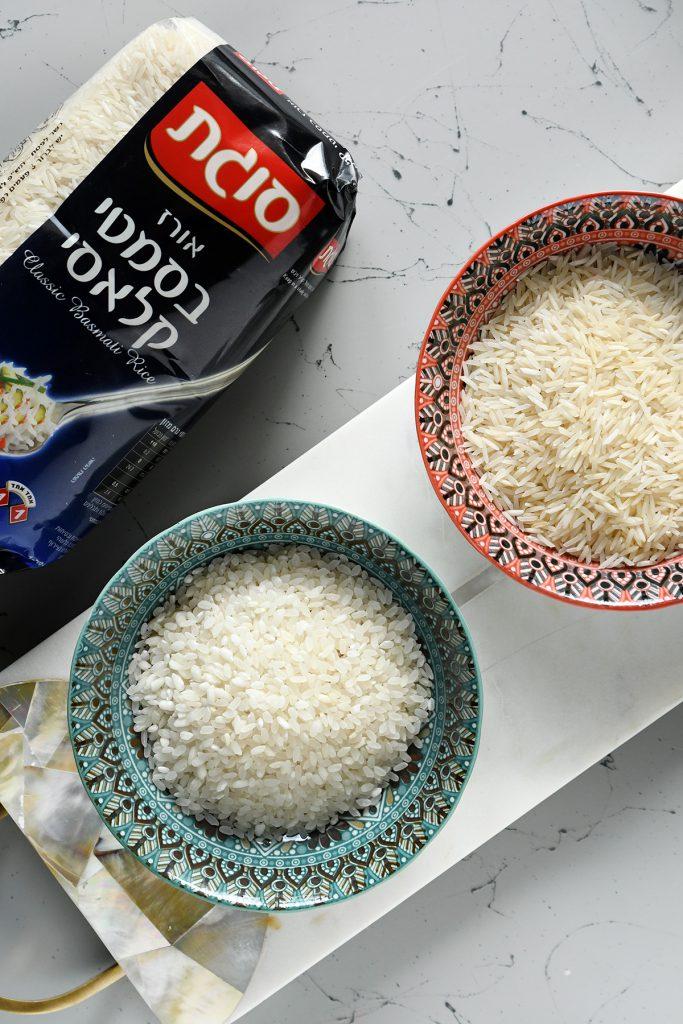 מכינים עוגה חגיגית משני סוגי אורז