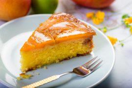 עוגת תפוזים הפוכה עם קרמל מנגו