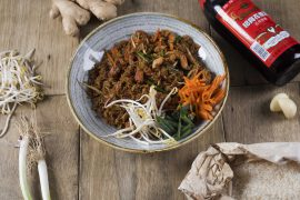 מוקפץ עם אורז יסמין, ירקות ועוף