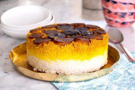 עוגה חגיגית של אורז פרסי עם תהדיג