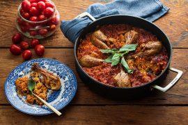 עוף, אורז ועגבניות בסיר אחד